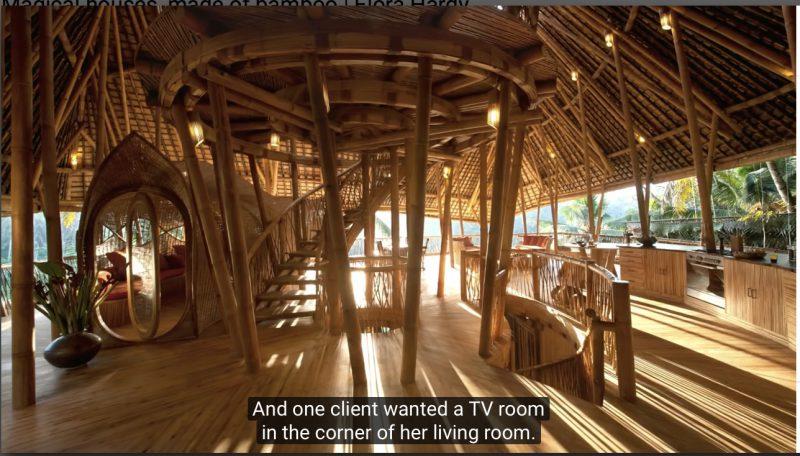 Bali Bamboo Home Interior under construction